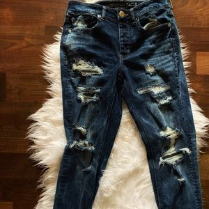 American Eagle Super Stretch Distressed Jeans!